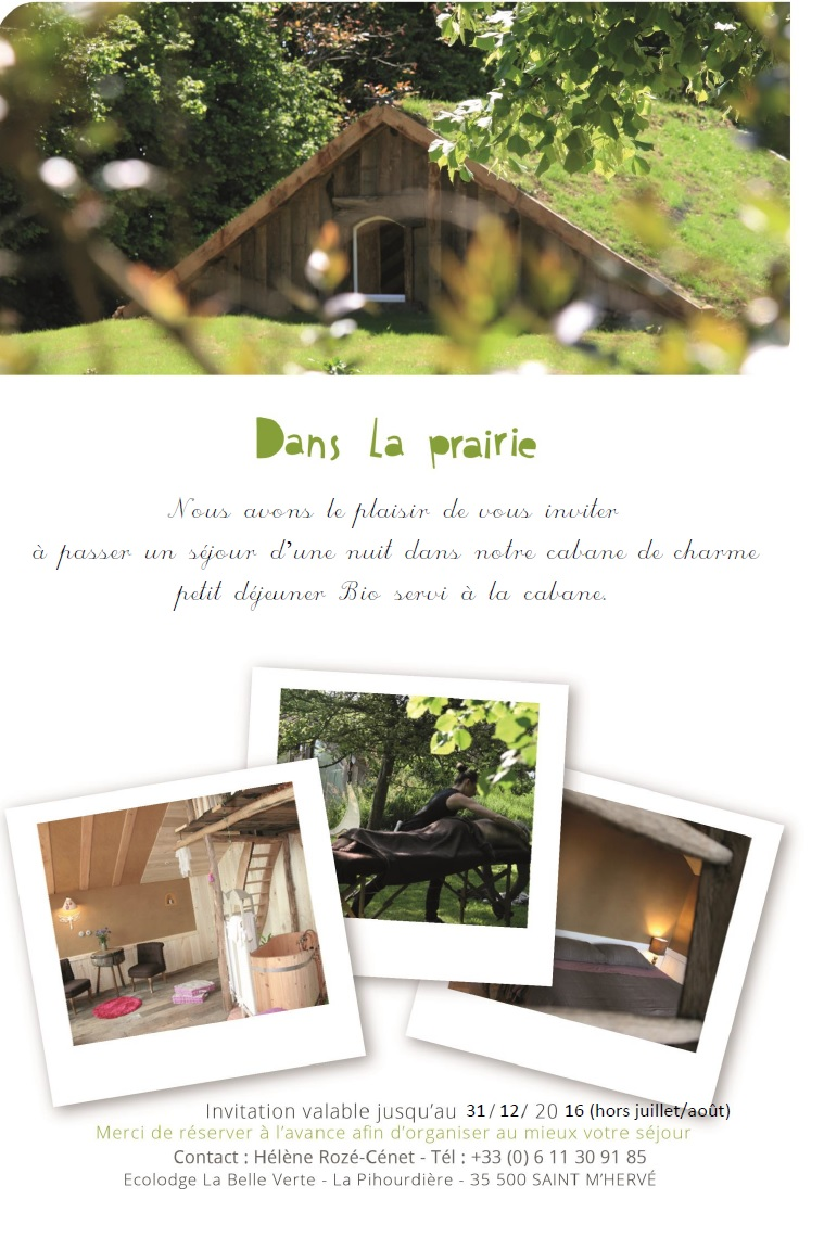 bon kdo la belle verte ecolodge la belle verte. Black Bedroom Furniture Sets. Home Design Ideas