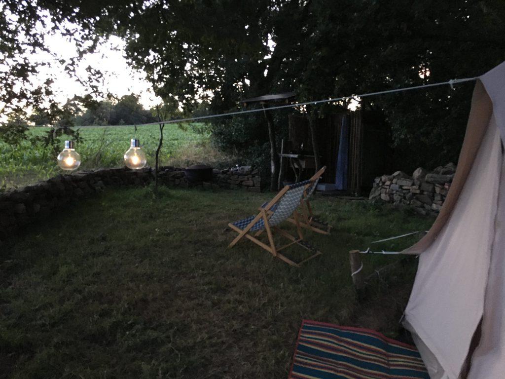 jardin tente glamping